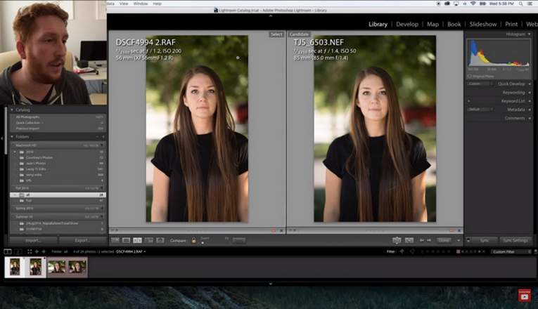 Fuji X-T2 εναντίων της Nikon D5: Πορτραίτα.